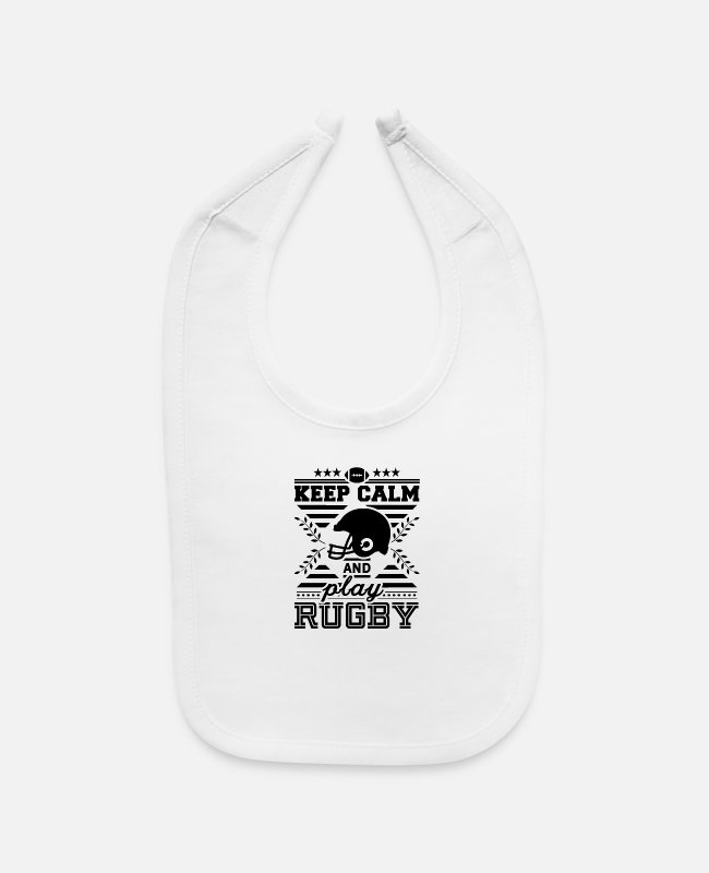Stadium Baby Bibs - Team Rugby Player Rugby Game Rugby Match - Baby Bib white