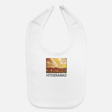 Hyderabad Hyderabad City Skyline Art Sights - Baby Bib