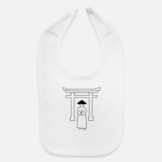 Blackjack Baby Clothing - Chinese Temple - Baby Bib white