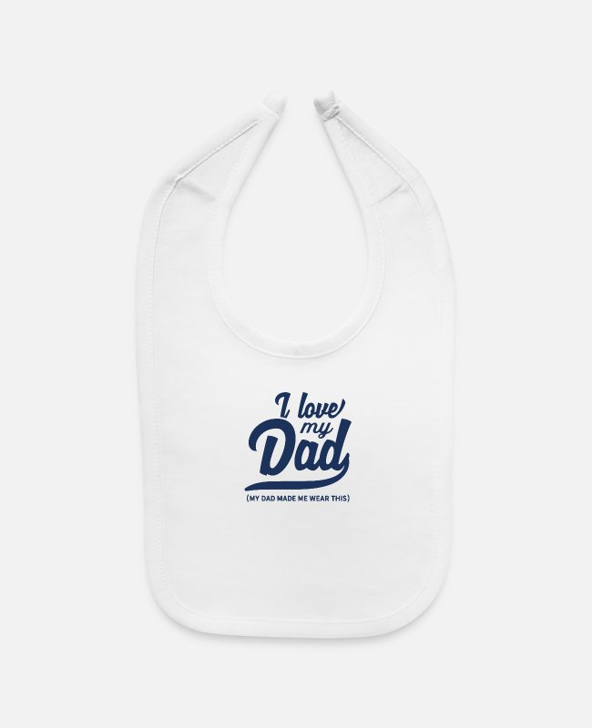 Father's Day Baby Bibs - Father - Baby Bib white