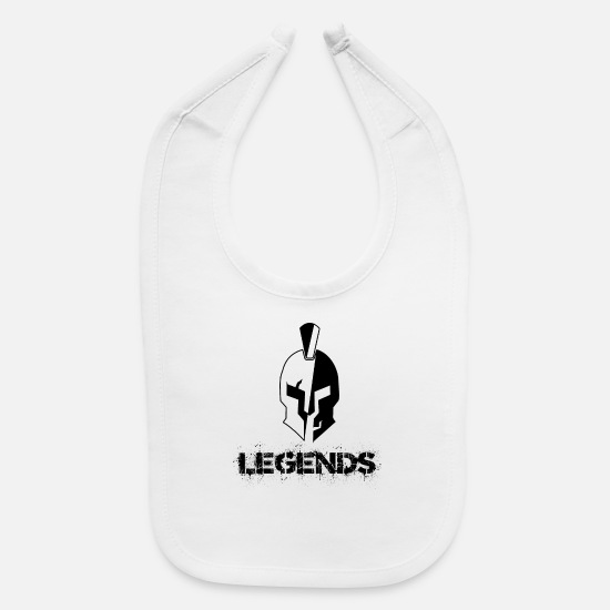 Greek Baby Clothing - Spartan Legends Shirt - Baby Bib white