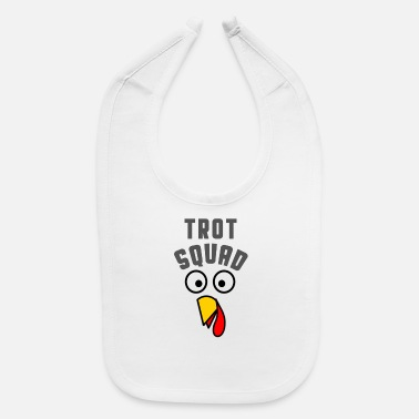 Turkey Turkey Trot Squad Thanksgiving T Shirt - Baby Bib