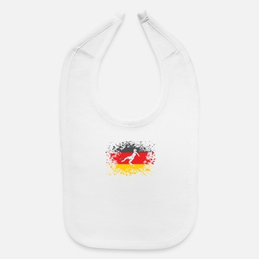 European Champion german flag soccer player european champion - Baby Bib