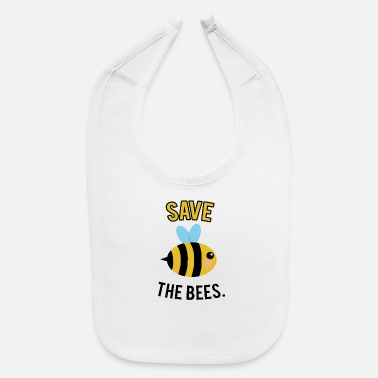 Bumble Bee Save the Bees, big bee - Baby Bib