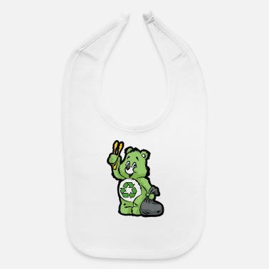 Enviromental TEDDY BEAR RECYCLE RECYCLING TRASH ENVIROMENTAL - Baby Bib