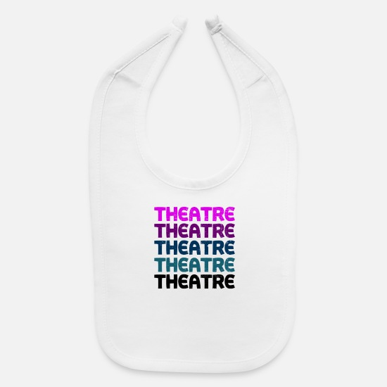 Actor Baby Clothing - Theatre Vintage Tee - Baby Bib white