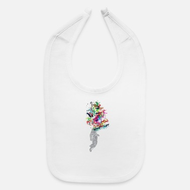 Explosion Astronaut - Colorful Explosion - Baby Bib