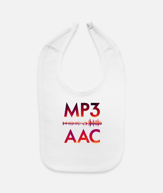 Studio Baby Clothing - MP3 VS AAC - Baby Bib white