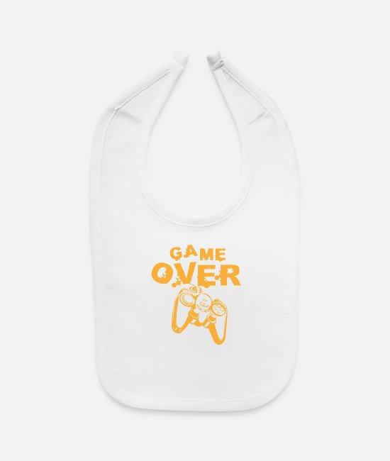 Gambling Baby Bibs - Game over - Baby Bib white