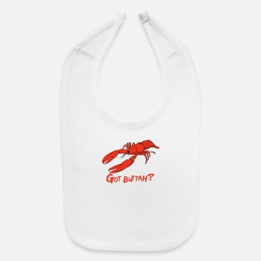 Freshwater Crustaceans Lobster Crab Funny Illutrator Sea Red Crawfish - Baby Bib