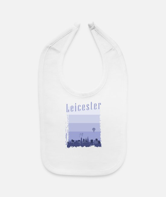Wanderlust Baby Bibs - Leicester England holiday gift - Baby Bib white