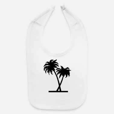 Palm Trees palm - palm tree - Baby Bib