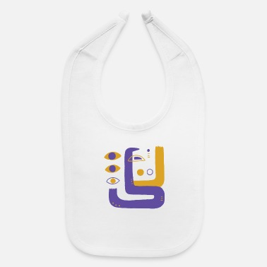 Shape Abstract Art 11 - Baby Bib