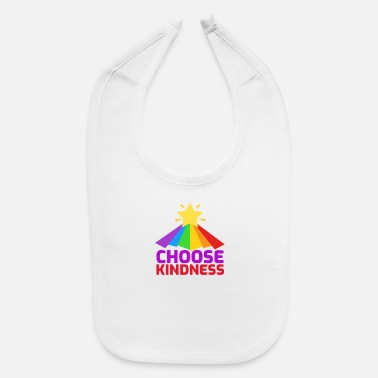Enviromental Choose Kindness Star Colorful Rainbow - Baby Bib