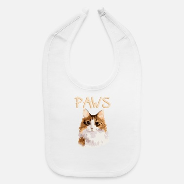 Sow Cat Pop Art Animal Portrait - Baby Bib