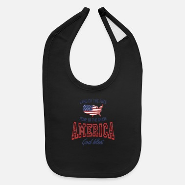 American Indian LAND OF THE FREE HOME OF THE BRAVE AMERICA - Baby Bib