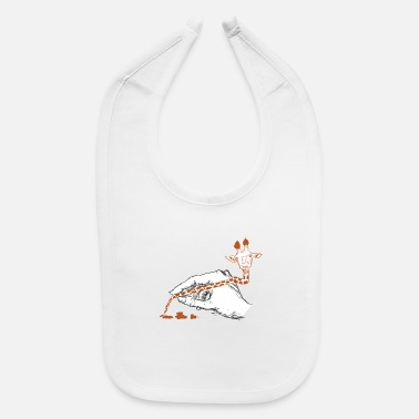 Paint Brush Giraffe Paint Brush - Baby Bib