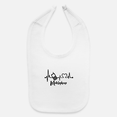Mobile Phone Mobile phone Heartbeat - Baby Bib