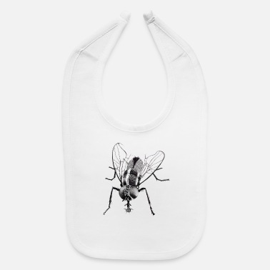 Fly Black fly insect - Baby Bib