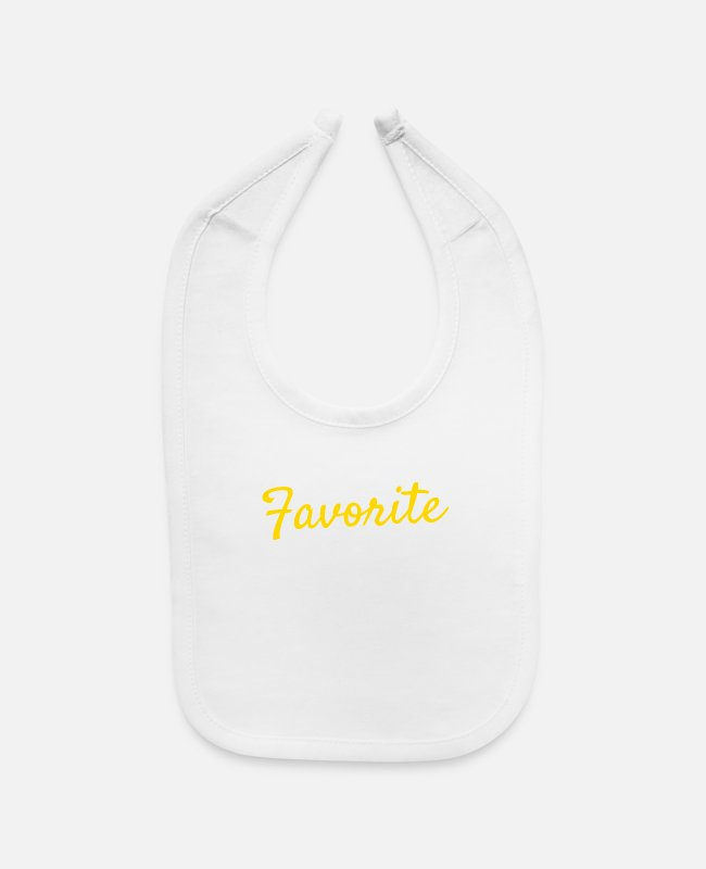 "Favorite Baby Bibs - For Daughters Sons Saying ""I'm The Favorite Child - Baby Bib white"