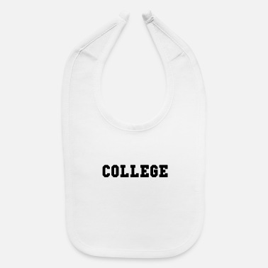 Higher Education College Black Lettering - Baby Bib