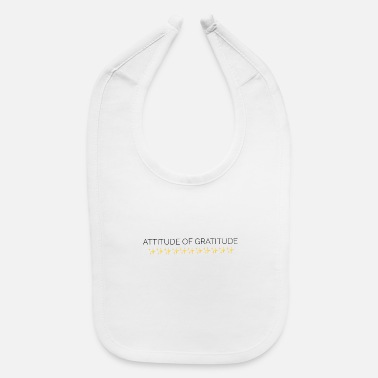 Life Force attitude gratitude daily life force typography art - Baby Bib
