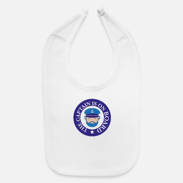 Skipper Funny Funny gift for Sailors and Skippers - Baby Bib