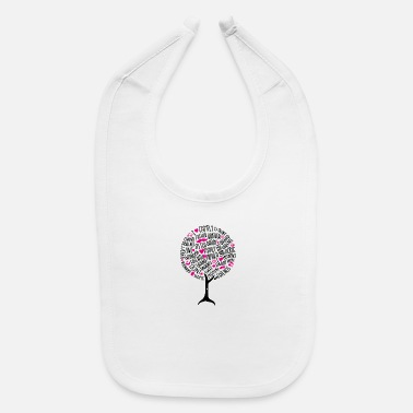 Family Tree Family reunion art family tree - Baby Bib