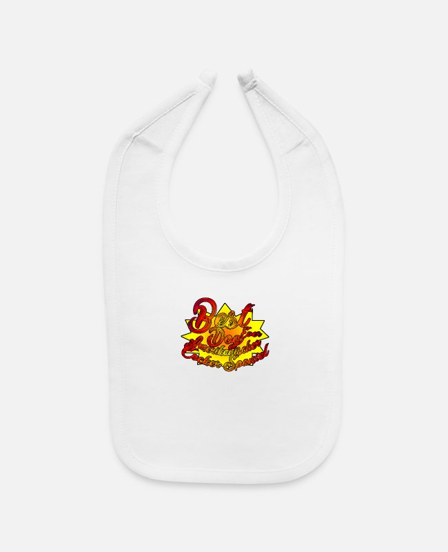 Dog Owner Baby Bibs - Amerikanischer Cocker Spaniel best dog - Baby Bib white