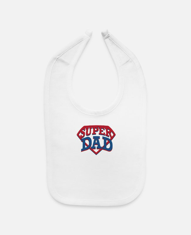 Super Dad Baby Bibs - Father - Baby Bib white