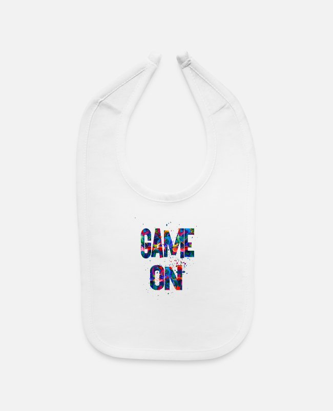 Training Baby Bibs - Game On - Baby Bib white