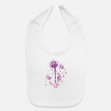 Katana Katana and Flowers - Baby Bib
