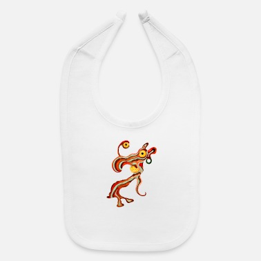 Illustration Caricature Tribal Gypsi Art Caricature Illustration 20 - Baby Bib