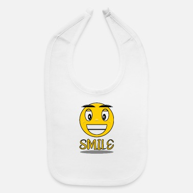Smile Smile with a smile - Baby Bib