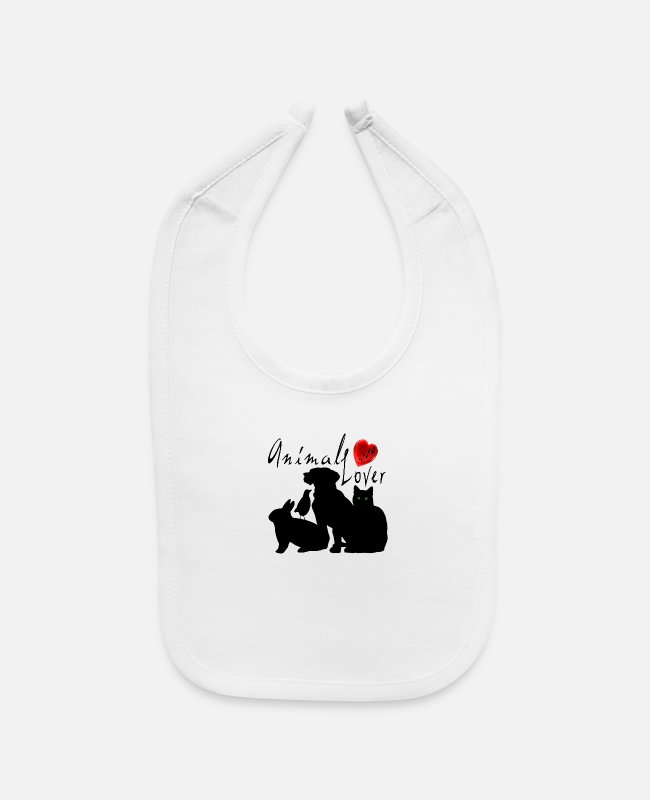Lovers Baby Bibs - Animal Lover - Baby Bib white