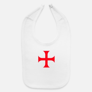 Red Cross Templar red cross - Baby Bib