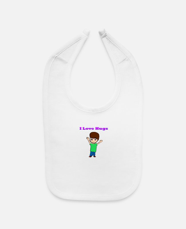 Drawing Baby Bibs - ambuscade shirt - Baby Bib white
