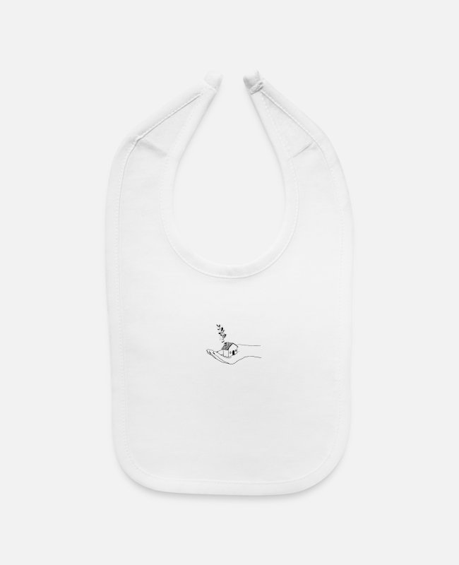 Aesthetic Baby Bibs - house in hand - Baby Bib white