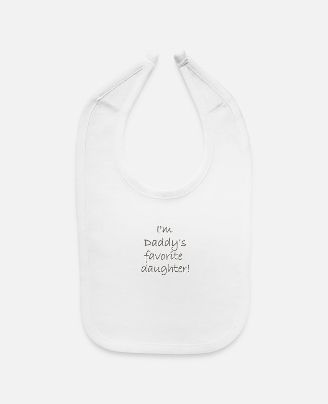 Favorite Baby Bibs - I'm Daddy's Favorite Daughter - Baby Bib white