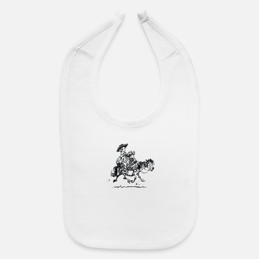 Thelwell Thelwell Two Cowboys With Their Horse - Baby Bib