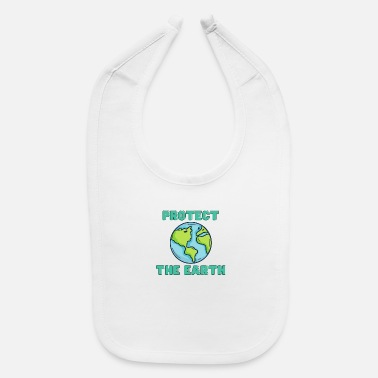 Reduced Protect Earth Planet - Baby Bib