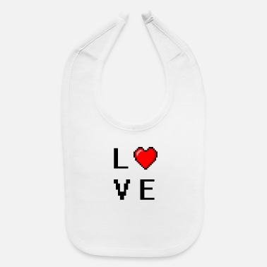 Pixelated love (FOR GAMERS) - Baby Bib