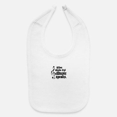 MUSIC SPEAKS HUMOUR LOGO FUNNY - Baby Bib
