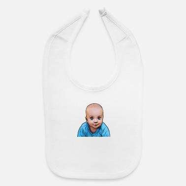 Illustration Caricature cute kid caricature - Baby Bib