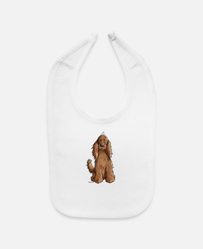 Cockers Baby Bibs - Happy Cocker Spaniel - Dog - Dogs - Gift - Fun - Baby Bib white