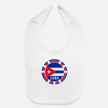 National Color Cuba design with national flag and national colors - Baby Bib