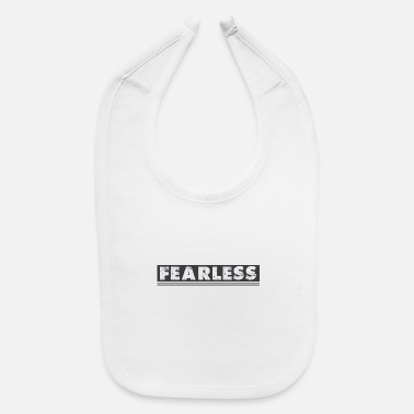Distressed Fearless Distressed - Baby Bib