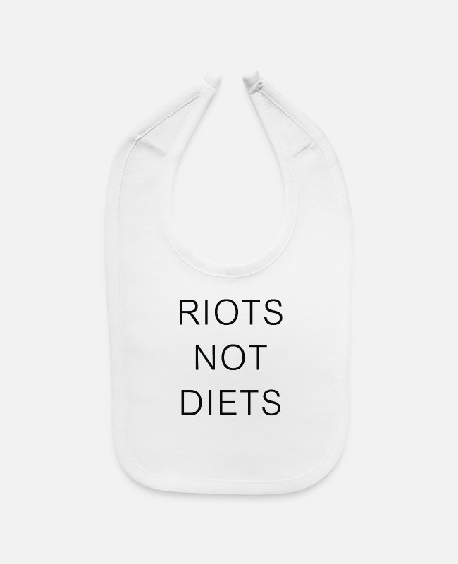 Movie Baby Bibs - Riots Not Diets - Baby Bib white