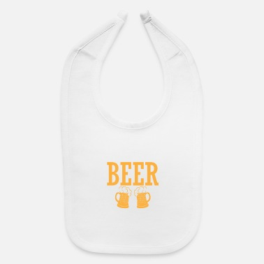 Beer Lover Beer Lover Just Here For the Beer - Baby Bib