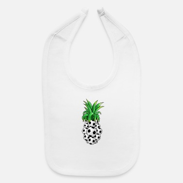 Pineapple And Soccer Soccer ball Pineapple - Baby Bib